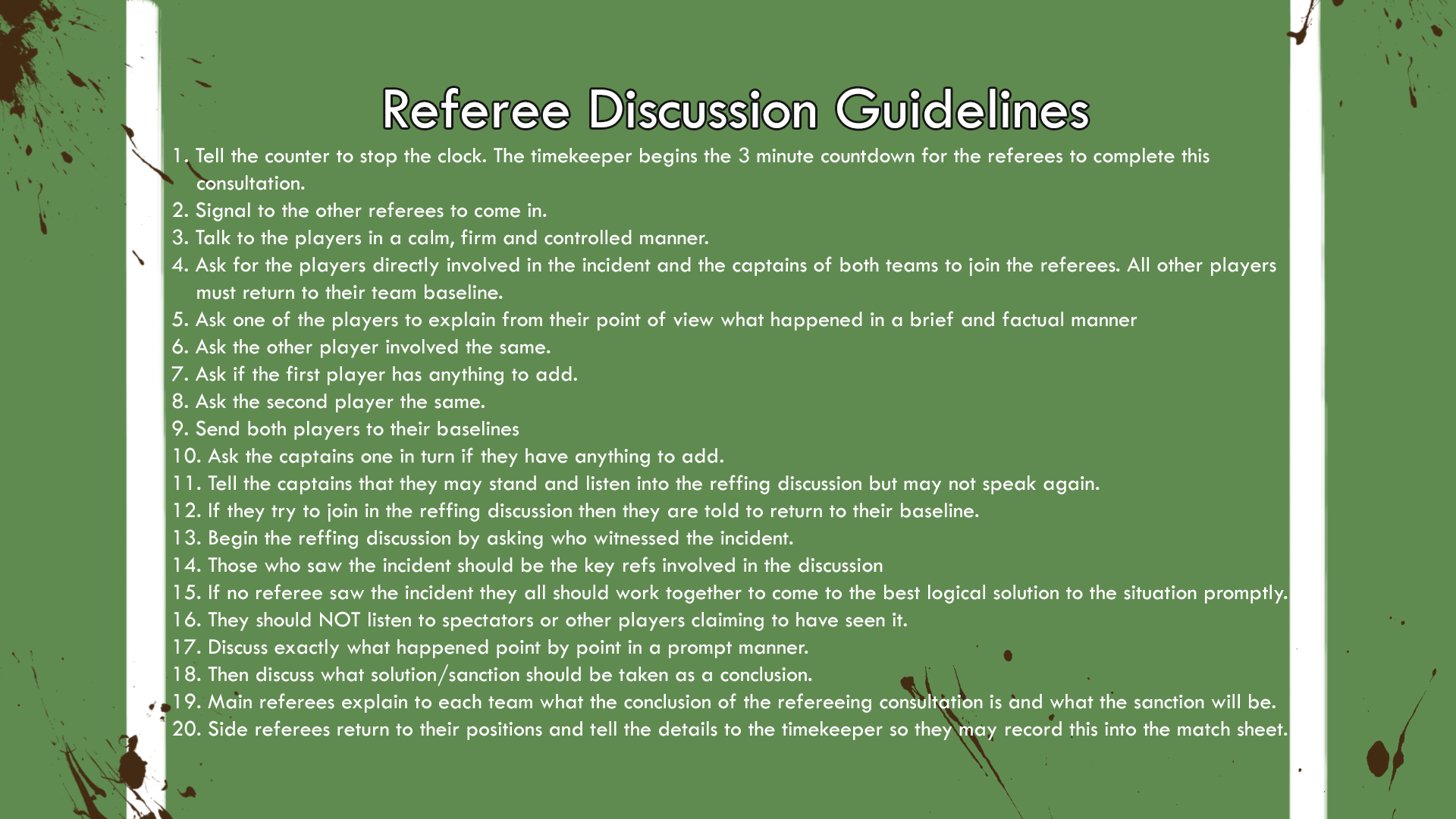 Referee Discussion Breakdown